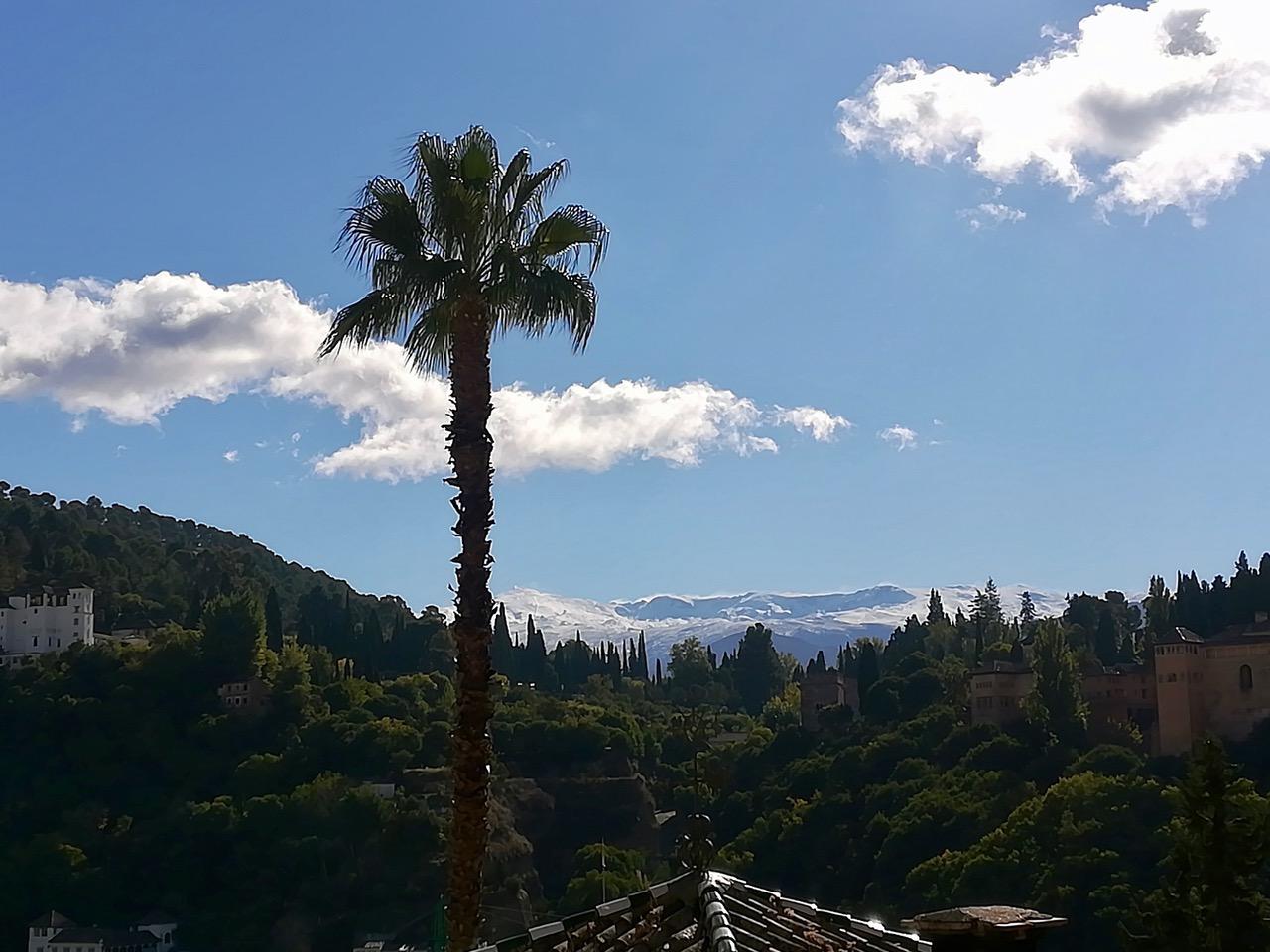 Zicht op de Sierra Nevada