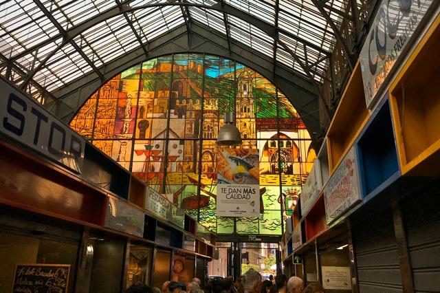 Mercado Central in Malaga, Calle Atarazanes