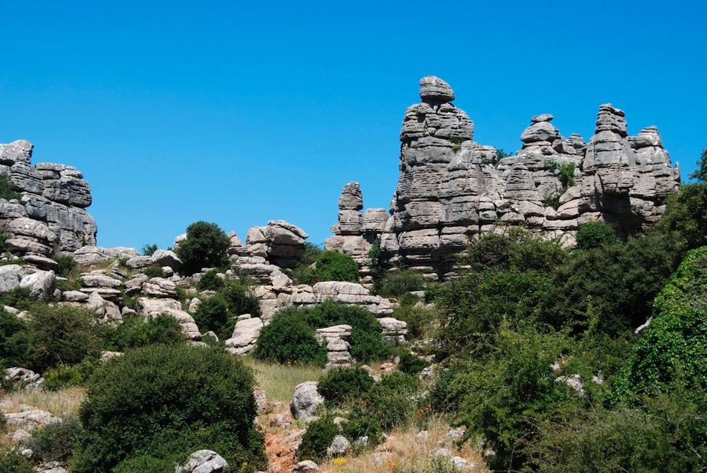 De grillige rotsformaties van El Torcal bij Malaga