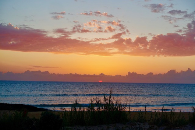 El Palmar, zonsondergang