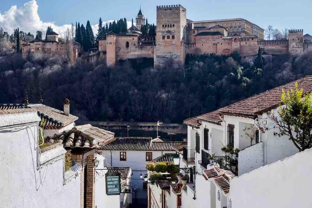 Zicht op het Alhambra vanuit het Albaicin