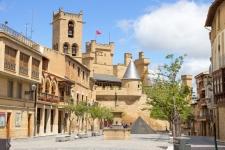 Olite met het kasteel, een van de hotels in deze reis