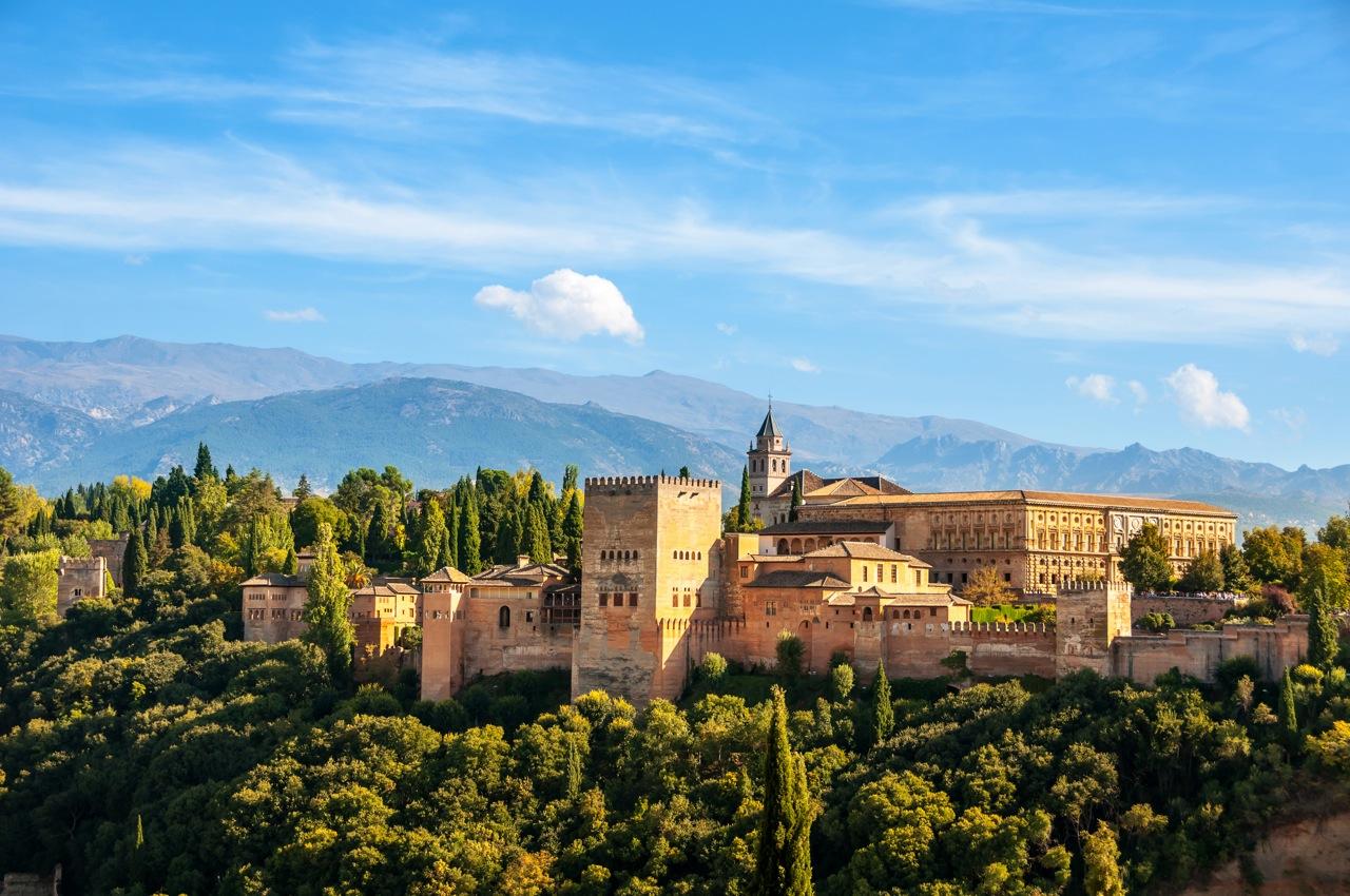 Zicht op Alhambra
