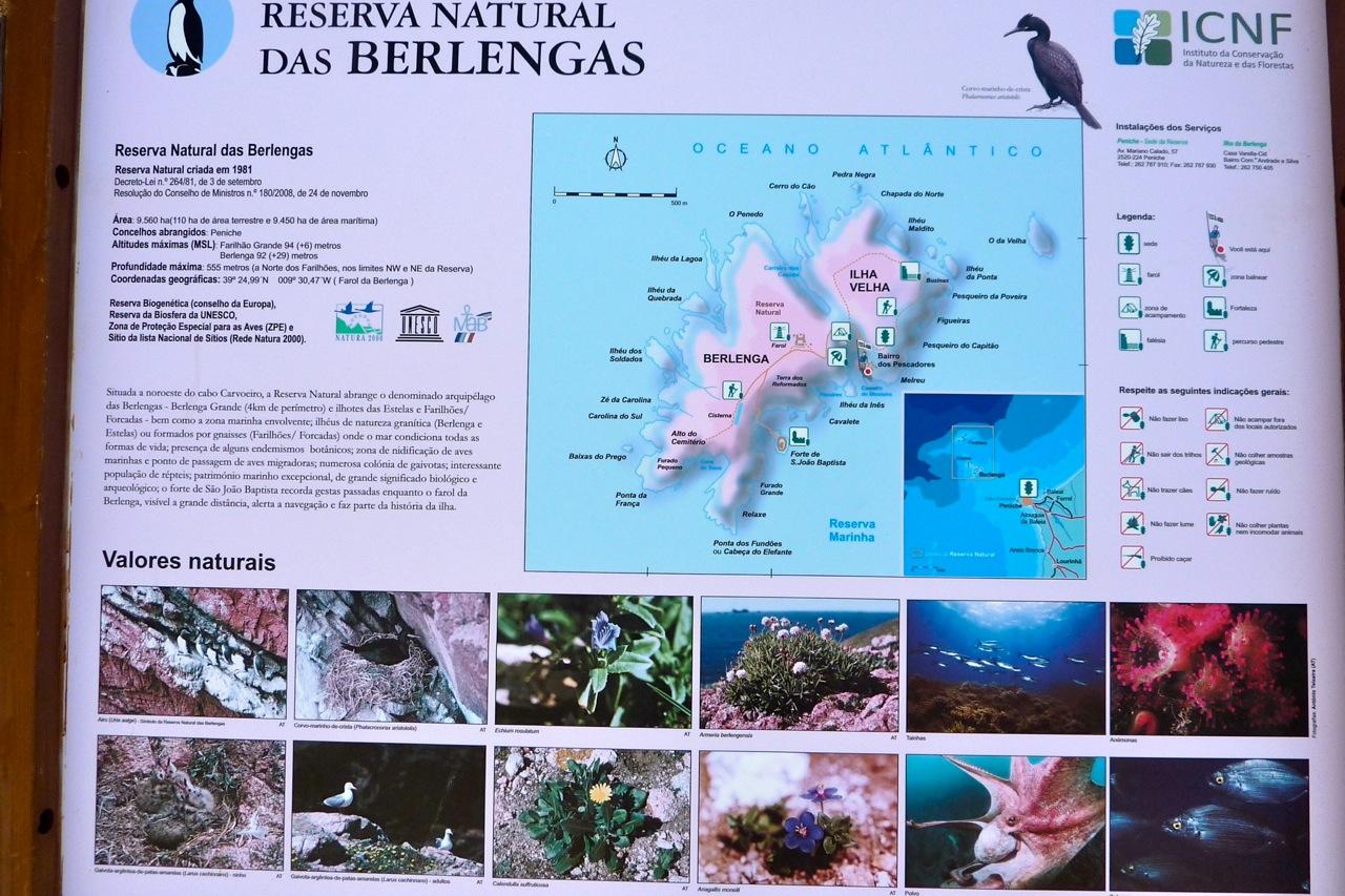 De Berlengas eilanden voor de kust bij Peniche