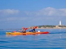 Kayakken op zee