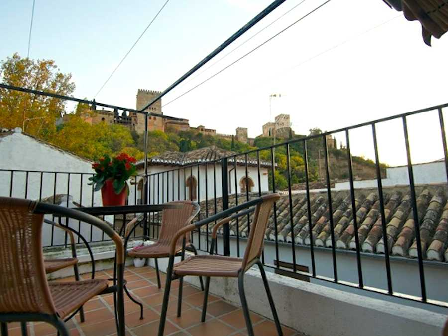 Zicht op Alhambra vanuit appartement 2