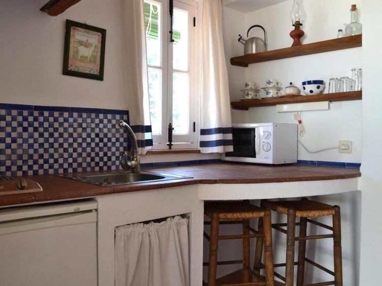 keuken van een van de appartementen