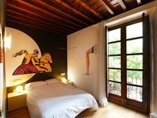 Een van de kamers in dit bijzondere hotel
