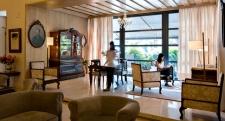 De lounge van het hotel