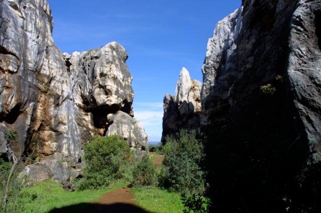 De ijzermijnen, indrukwekkend landschap