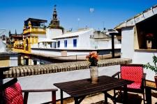 Terras van centraal gelegen appartement Sevilla, Andalusië