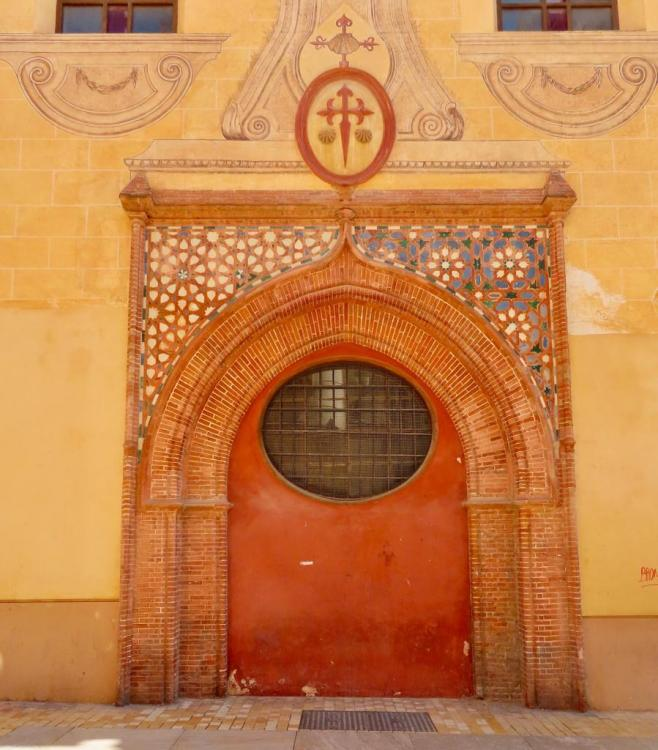 Mudejar poort iglesia de Santiago Apóstol Málaga