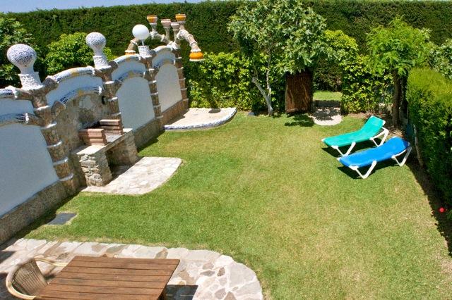 privé tuin, omheind