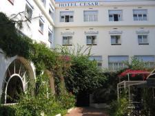 De binnentuin van het hotel