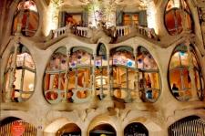Het beroemde Casa Batló van Gaudi in Barcelona