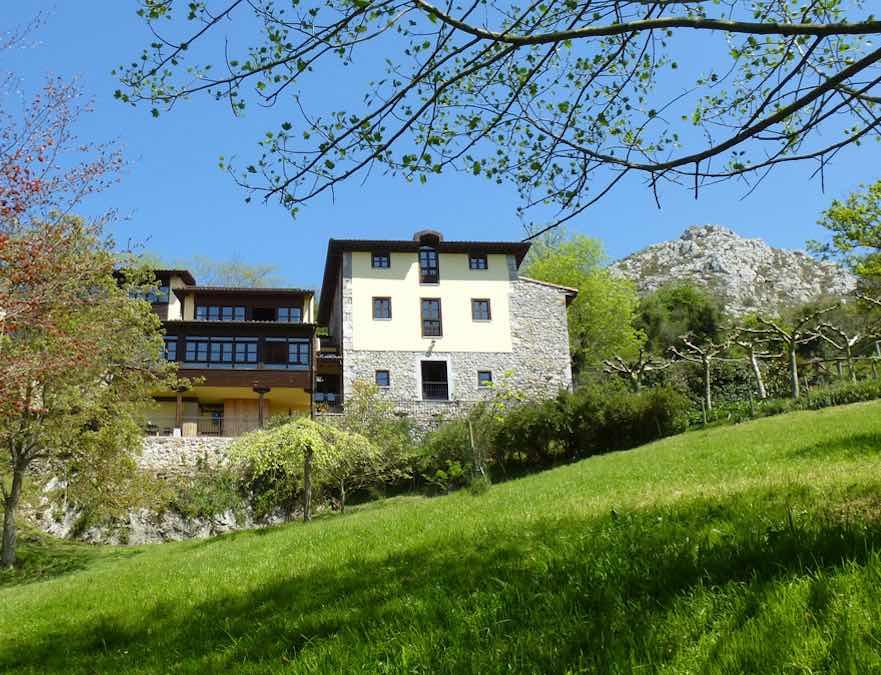 Een van de hotels in het oosten van Asturië