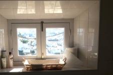 Uitzicht op Vejer vanuit de badkamer