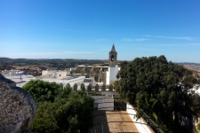 Zicht op Vejer en de Iglesia del Divino Salvador