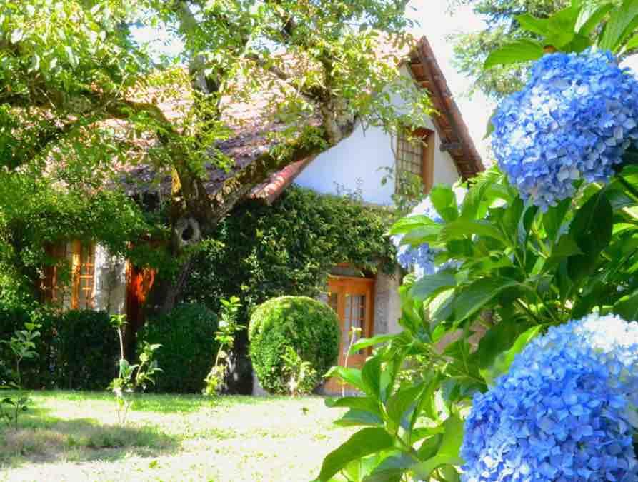 Het tuinhuisje op het landgoed bij Lousada