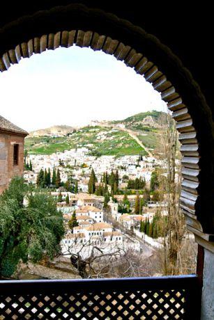 Oosters uitzicht - Alhambra, Granada
