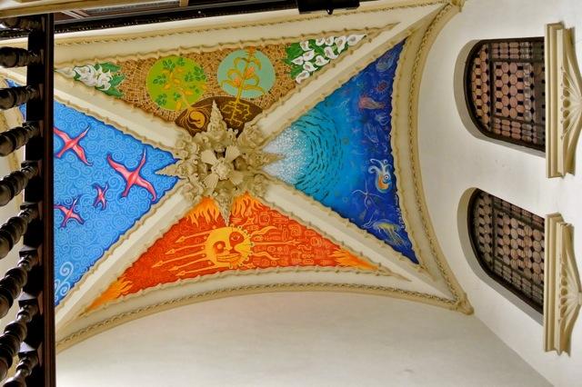 Plafond in trappenhuis, hotel in Córdoba