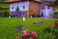 Traditionele 18e eeuwse Baskische architectuur