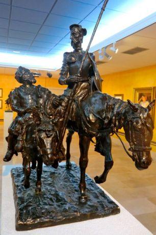 Don Quijote in het museum van Colmenar