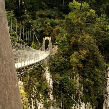Holzarte hangbrug, Pyreneeën