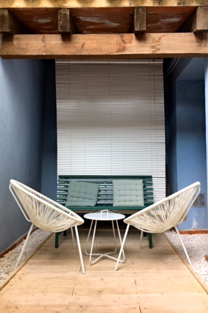 privé patio (-otje) van appartement 2A
