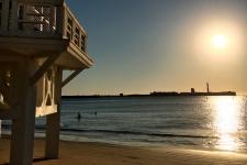 La Caleta bij zondsondergang
