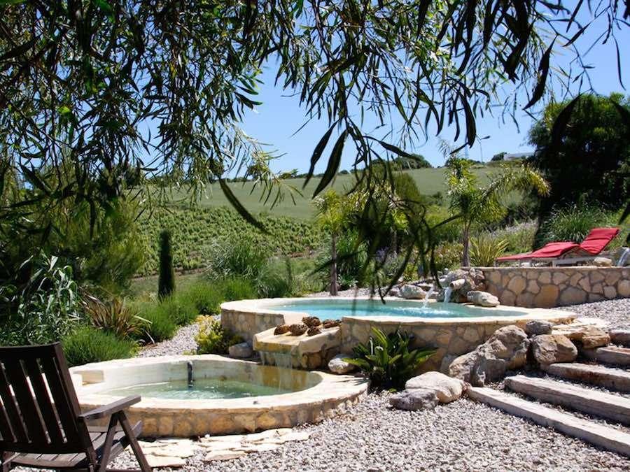 Het terrasvormige Zwembad