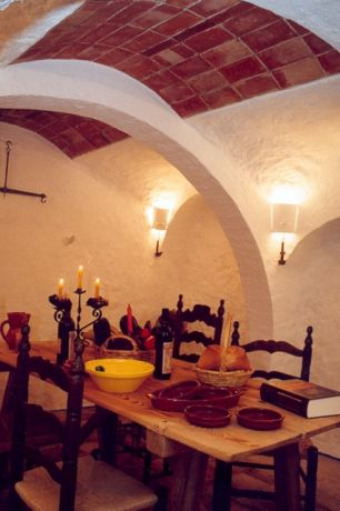 Restaurant in de oude wijnkelder