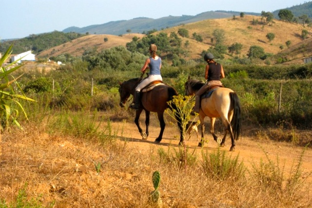 Paardrijden vanaf het landgoed