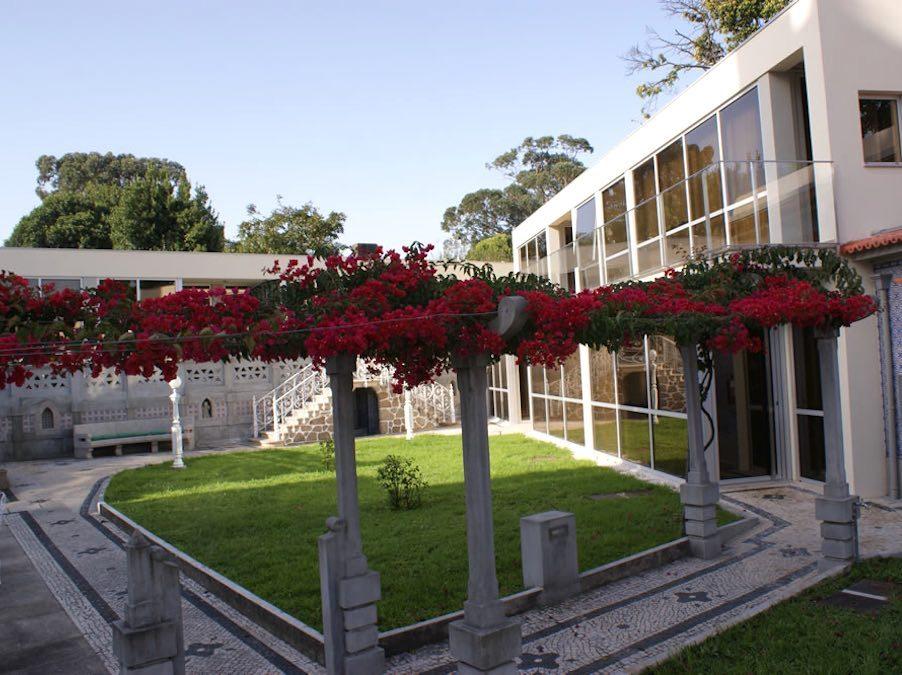 De tuin met de annex