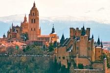Zicht op Segovia