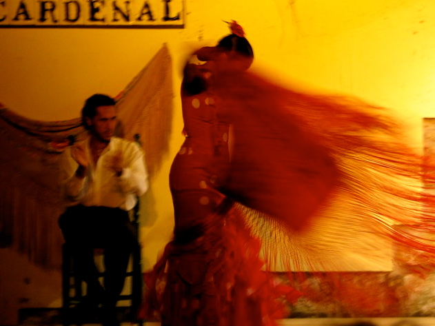 Flamenco in Tablao el Cardenal. Cordoba
