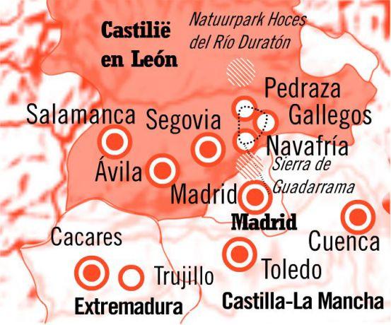 Kaart Route Wandelen met een Ezel