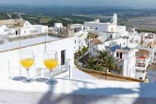 Uitzicht op Vejer vanaf privé terras