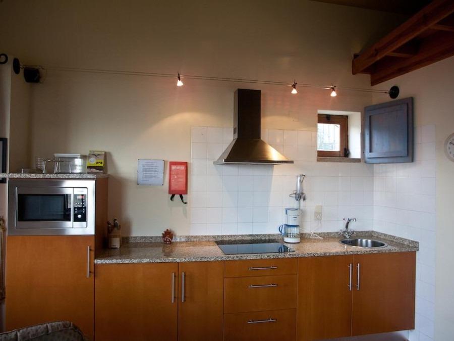 Keuken in een van de appartementen