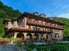 Het hotel in de Picos de Europa, in de Leibana vallei