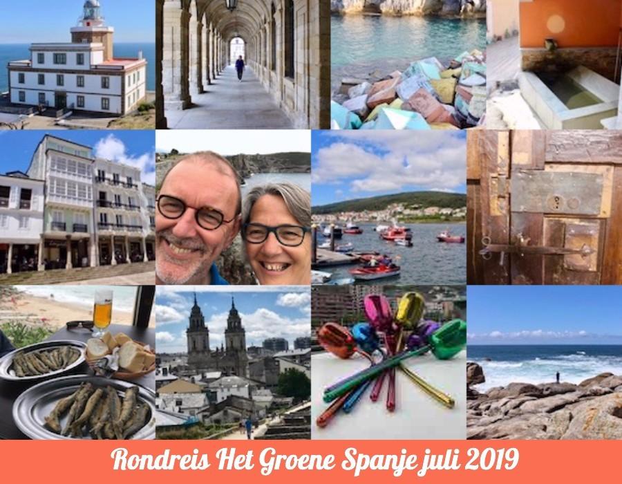 Anja en Klaas in Noord Spanje, juli 2019