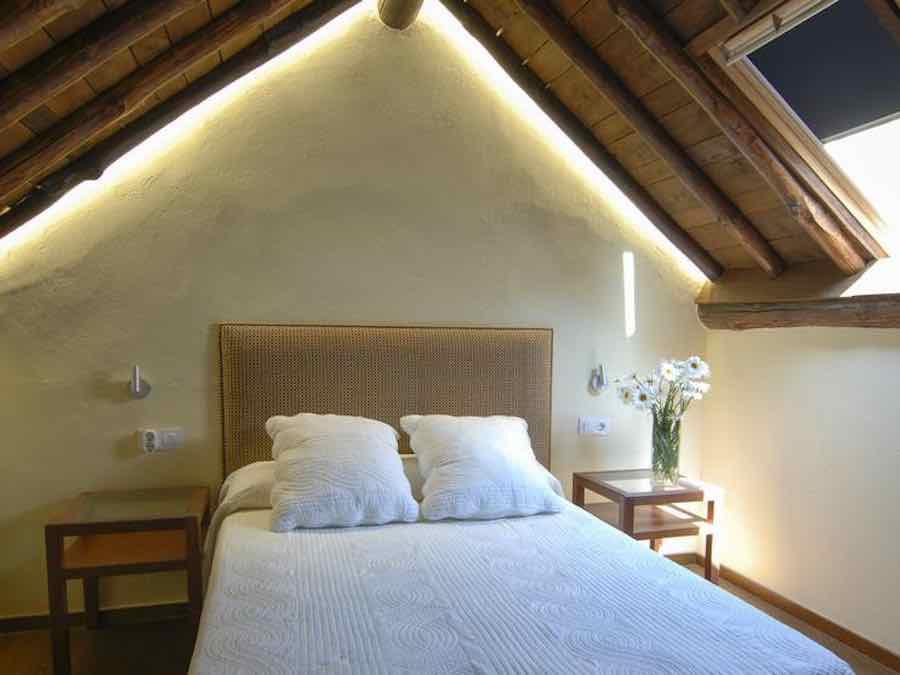 slaapkamer van het tuinhuisje