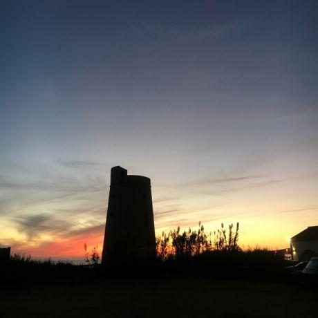 De Torre op het strand van El Palmar