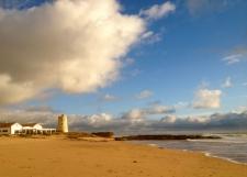 Het strand van El Palmar richting Conil