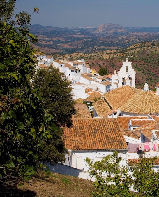 Het dorpje El Gastor, op 3 kilometer