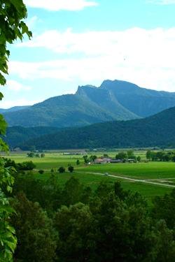 Uitzicht vanaf de Masia