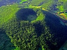 Het vulkaanlandschap van de Garrotxa