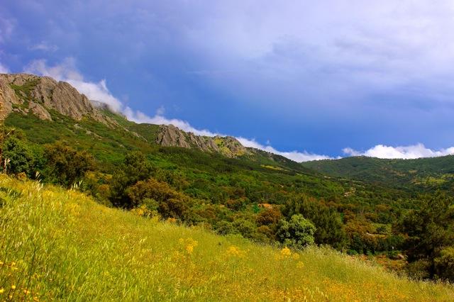 Extremadura, vallei bij Guadalupe