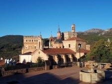 Zicht op het klooster van Guadalupe