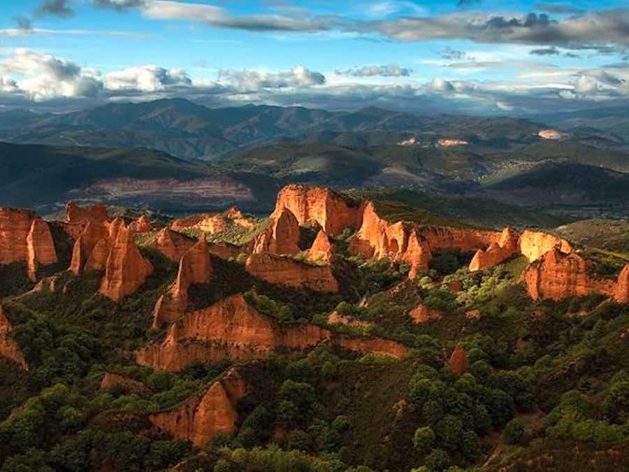 Las Medulas - de kopermijnen Unesco werelderfgoed